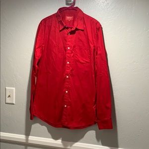 Supreme red button up long sleeve Marilyn Monroe